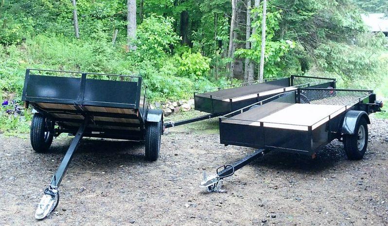 Remorque Utilitaire  62 X 98 avec Rampes galvanisées plein