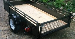 Utility trailer, Dumper, 50 X 98 Black 16″ sides Mesh gate