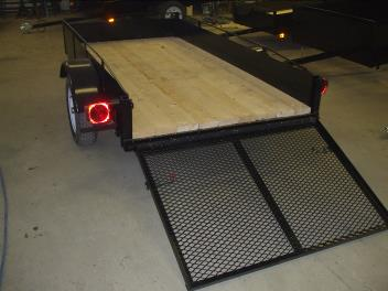 Utility trailer, 50 X 98 with 34″ Ramp full