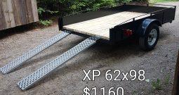 Remorque Utilitaire  62 X 98 avec Rampes galvanisées