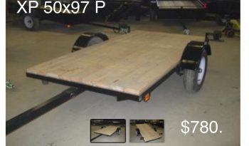 Utility trailer tilting, Tilting platform, 50 X 97 Black full