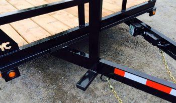 7′ X 16′, 18′, 20′ Plateforme avec queu de castor H.D. (car Hauler) Noir ou galvanisé. plein