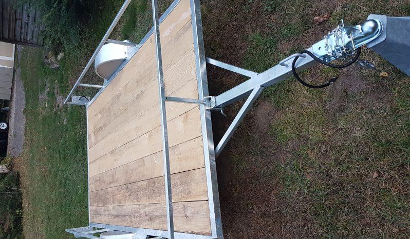 Remorque Plateforme Basculante 68 X 124 GALVANISÉE plein