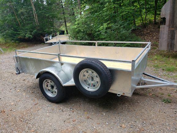 Utility trailer tilting, 54 X 98 Galvanized full